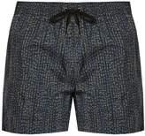 DAN WARD Tri-colour print swim shorts