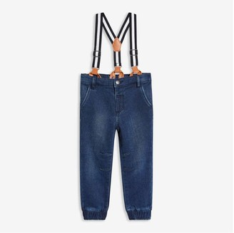 Joe Fresh Toddler Boys' Suspender Joggers, Medium Wash (Size 2)