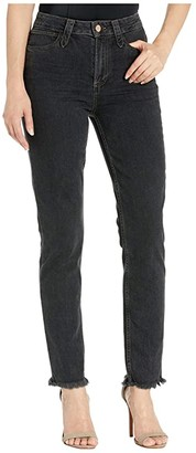 Paige Hoxton Slim w/ Western Detail + Heavy Fray Hem in Moondust Black