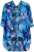 Yours Clothing Yoursclothing Plus Size Womens Lightweight Smudge Print Kimono One Size Ladies