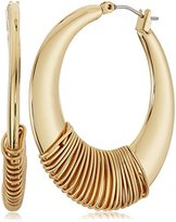 """Robert Lee Morris Pompeii"""" Wire Wrapped Sculptural Hoop Earrings"""