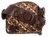 Bottega Veneta Leather Appliqué Embellished Crossbody Bag