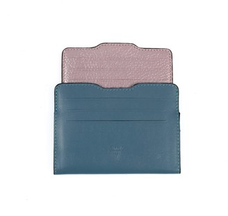Atelier Hiva Double Card Holder Deep Blue & Metallic Baby Blue