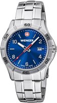 Wenger Platoon Men's Quartz Watch with Dial Analogue Display and Silver Stainless Steel Bracelet 10941104