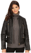 G Star G-Star Biker Solid Leather Slim Jacket
