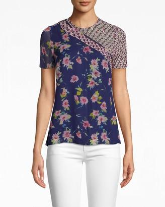 Nicole Miller Cosmo Flora T-shirt