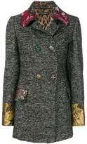 Dolce & Gabbana jacquard trim double breasted jacket
