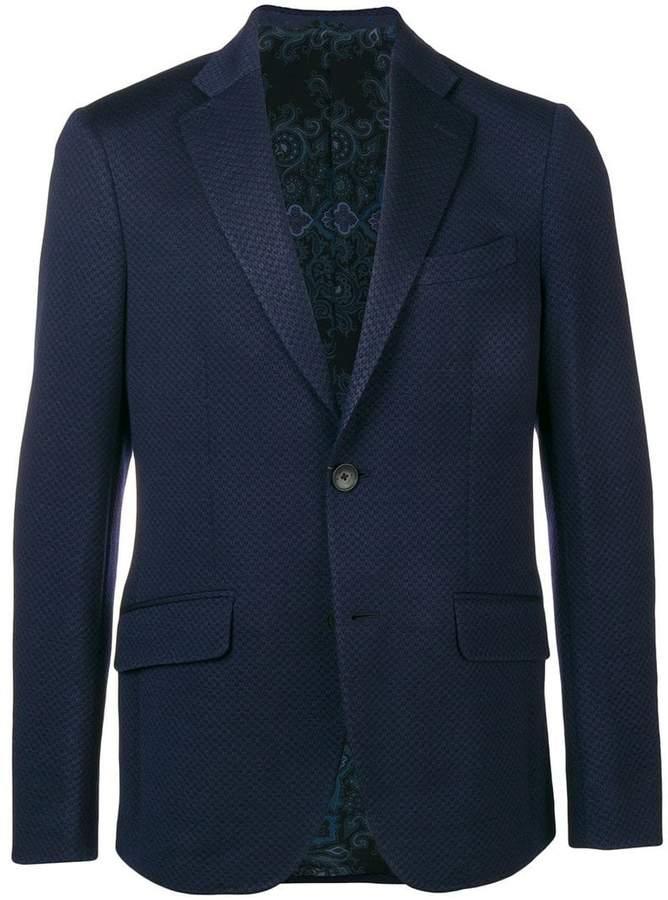 Etro single breasted slim-fit blazer