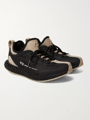 Y-3 Runner 4d Io Suede And Neoprene-Trimmed Ripstop And Primeknit Sneakers