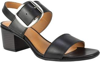 White Mountain Leather Adjustable Slingback Sandals - Lamar