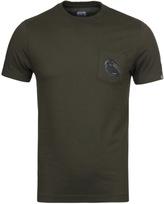 Cp Company Khaki Watchviewer Printed Short Sleeve T-shirt