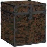 Pottery Barn Teen Canvas Dorm Trunk with Black Trim, Cube, Digi Camo Green