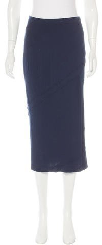 Donna Karan Midi Patchwork Skirt