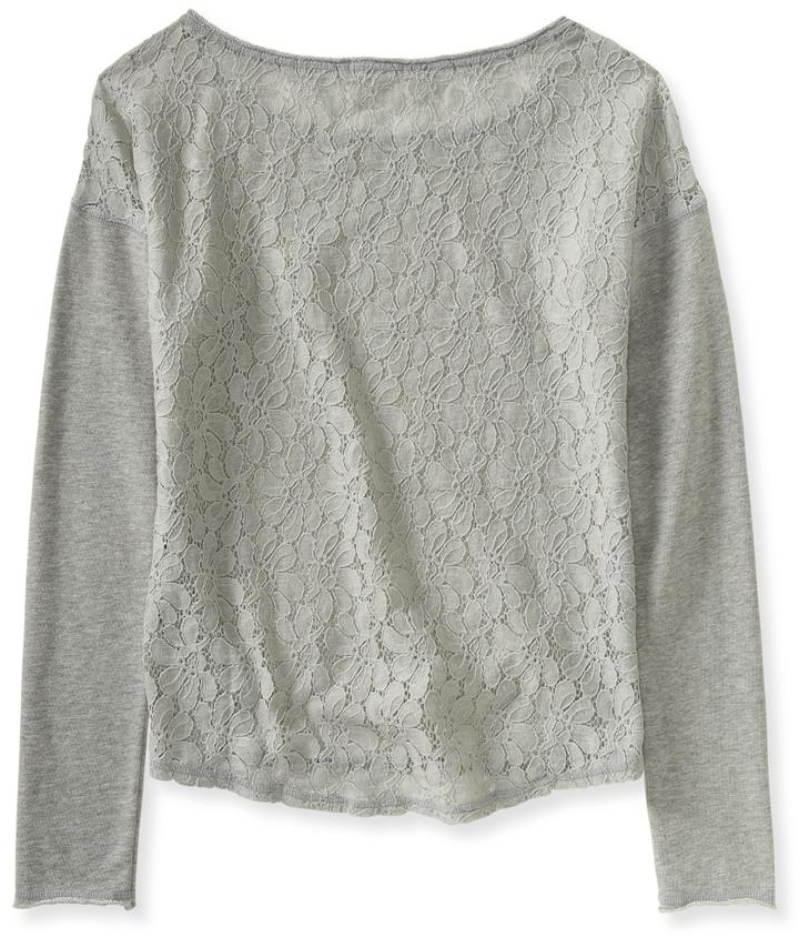 Aeropostale Long Sleeve Sheer-Back Sweatshirt