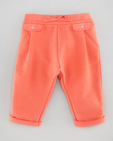Chloé Pleated Jersey Pants, Rose, Sizes 3-18 Months