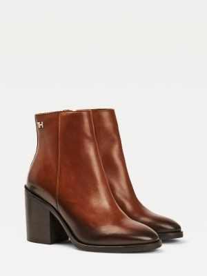 Tommy Hilfiger Ombre Leather High Heel Boots