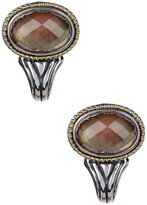 Lagos Sterling Silver & 18K Gold Black Mother of Pearl Tone-Crystal Earrings