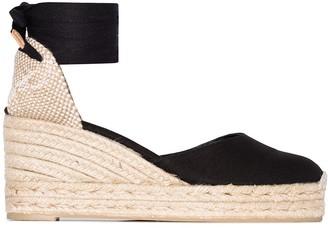 Castaner Carina ankle-tie wedge sandals