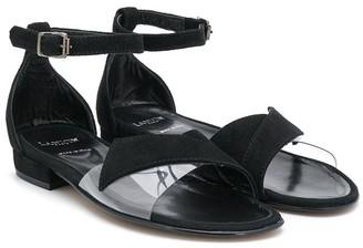 Lanvin Enfant TEEN crossover strap flat sandals