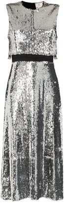 Stella McCartney Sequin Front Double-Layer Dress