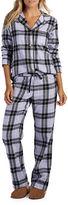 UGG Raven Plaid Two-Piece Pajama Pants & Shirt Set