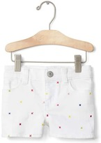 Gap 1969 Embellished Stretch Denim Shorty Shorts