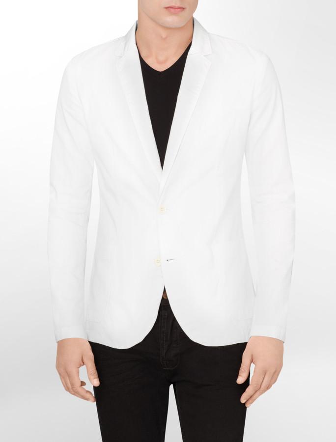 Calvin Klein Body Slim Fit Garment Dyed Blazer