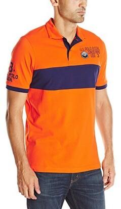 U.S. Polo Assn. Men's Chest Stripe Shirt with Logo Patch