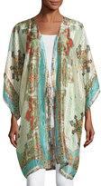 Johnny Was Chapel Printed Silk Kimono Jacket