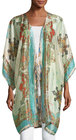 johnny was chapel printed silk kimono jacket