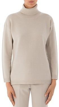 Peserico Virgin Wool, Silk & Cashmere Turtleneck Sweater