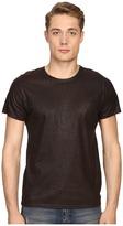 Just Cavalli Dye Effect Laser Jaquar Skin Effect T-Shirt Men's T Shirt