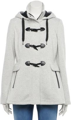 Iz Byer Juniors' Toggle-Front Fleece Jacket