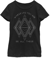 Fifth Sun Black 'Wherever You Are Be All There' Crewneck Tee - Girls
