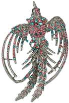 Ever Faith Black-Tone Crystal Holiday Gift Flying Phenix Rebirth Brooch Pin Multicolor A04043-48