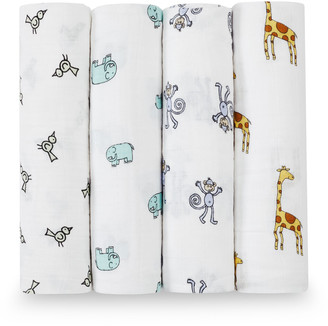 Aden Anais aden + anais Classic Swaddle 4 Pack Jungle Jam