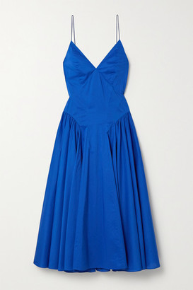 TOVE Maren Pleated Organic Cotton Midi Dress - Blue