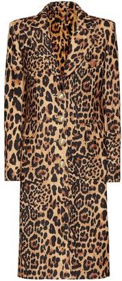 Paco Rabanne Leopard-print wool-blend coat