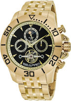 Seapro Sea-Pro Montecillo Mens Gold Tone Bracelet Watch-Sp5131