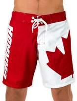 Calhoun Sportswear Men's Canada Flag Boardshorts