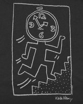 Junk Food Clothing Keith Haring Clock Women's Racer Back Tank Top (XL)