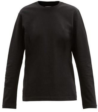 Bottega Veneta Sunrise Cotton-jersey Long-sleeved T-shirt - Black