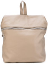 Eleventy horizontal front zip backpack - women - Leather - One Size