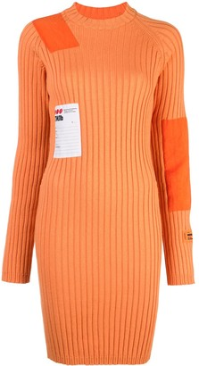 Heron Preston patch ribbed dress