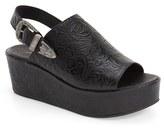 Matisse Women's Embossed Slingback Platform Sandal
