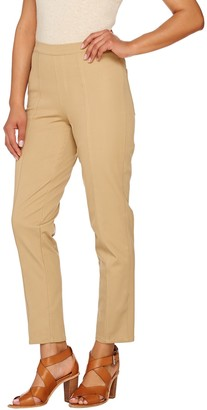 Isaac Mizrahi Live! Tall 24/7 Stretch Ankle Pants w/ Seam