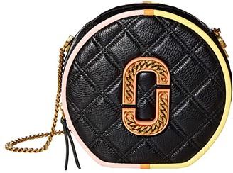 Marc Jacobs The Status Color-Blocked Round Crossbody (Black Multi) Handbags