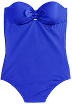 J.Crew D-cup Jersey Lomellina® tie-front underwire one-piece swimsuit