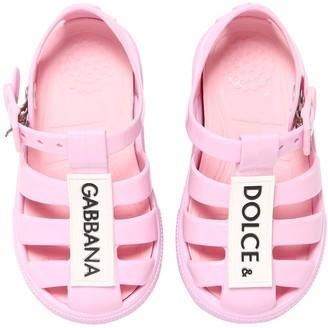 Dolce & Gabbana Logo Jelly Rubber Sandals