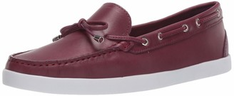 Driver Club Usa Women's Leather Made in Brazil Boat Shoe with Tiebow Detail
